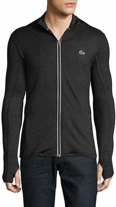 Lacoste Full-Zip Mock Neck Jacket