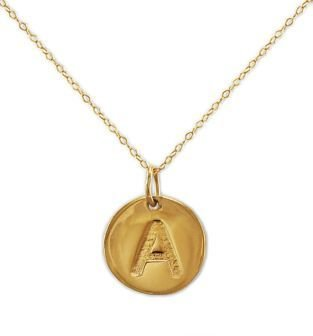 Lord & Taylor 14 Kt. Gold Initial 'A' Pendant Necklace