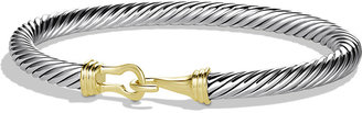 David Yurman 5mm Cable Buckle Bracelet with 14K Gold