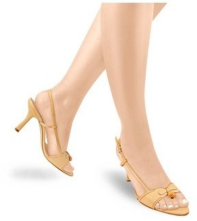 Borgo degli Ulivi Front Bow Camel Leather Sandal Shoes