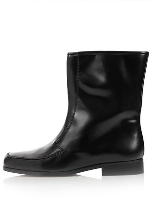 J.W.Anderson **Flat Leather Boots by for Topshop