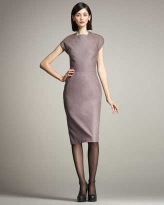 Carolina Herrera Stretch-Wool Sheath Dress