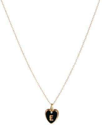 Gogo Philip E Initial Heart Necklace
