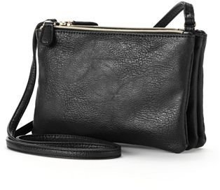 Apt. 9® Triple Zipper Crossbody Bag $36 thestylecure.com