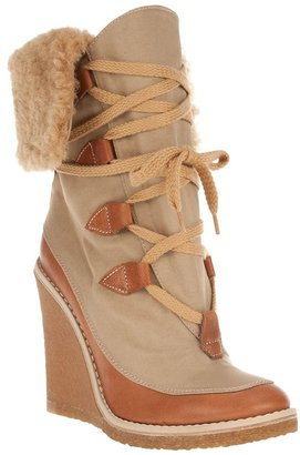 Chloé two-tone winter boot