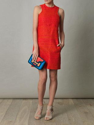 Carven Tweed-raffia sleeveless dress