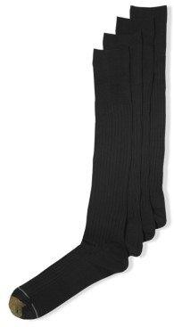 Gold Toe Men's Socks, Adc Canterbury 3 Pairs Crew Dress Socks + 1 Pair