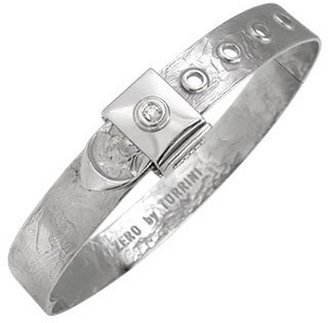 Torrini Zero - 18k White Gold and Diamond Bangle Bracelet