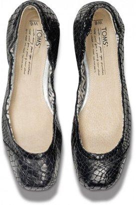 Toms TOMS+ Black Serpentine Ballet Flats