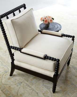 """Old Hickory Tannery Ellsworth"""" Neutral Spindle-Back Chair"""