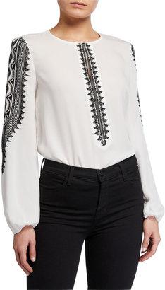 Kobi Halperin Zadie Long-Sleeve Silk Blouse
