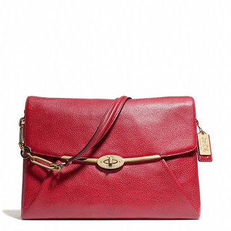 Coach Madison Shoulder Flap Bag In Leather