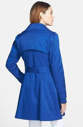 Jessica Simpson Ruffle Detail Asymmetrical Zip Trench