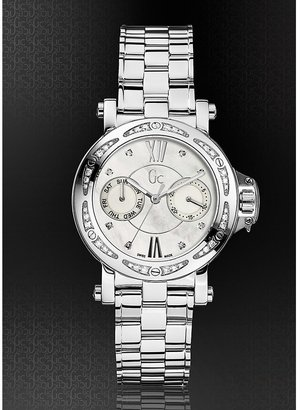 GUESS Gc Femme - Silver with Diamonds