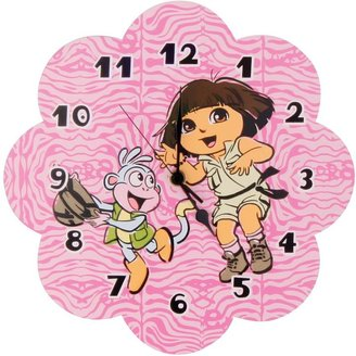 "Trend Lab Dora the explorer ""exploring the wild"" wall clock"