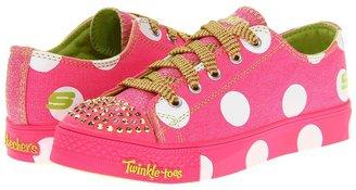 Skechers Shuffles Lighted 10298L (Little Kid/Big Kid) (Hot Pink) - Footwear