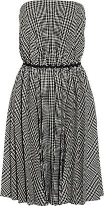 Moschino Cheap & Chic Moschino Cheap and Chic Strapless plaid wool-blend dress