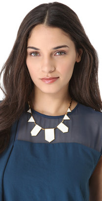 House Of Harlow White Sand Five Station Necklace