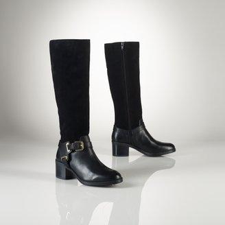 Ralph Lauren Oiled Suede–Vachetta Boot