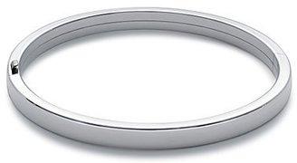 Flat Bangle Bracelet in Sterling Silver