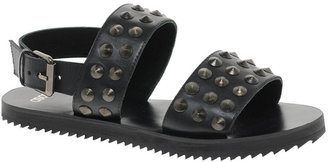 Asos FIGHTER Leather Studded Flat Sandals