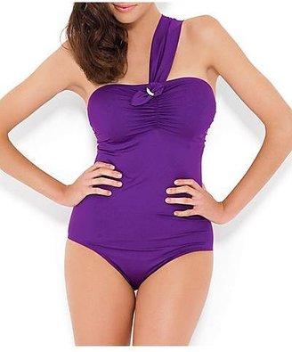 Panache Sophia One Shoulder One-Piece Swimsuit Swimwear