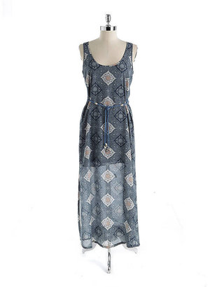 Sanctuary Belted Mosaic Print Maxi Dress