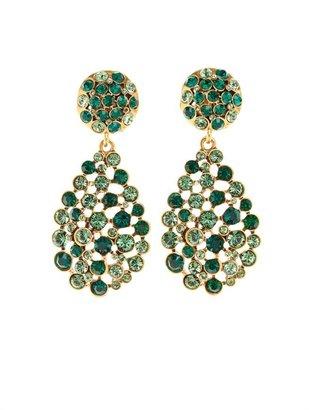 Oscar de la Renta Teardrop Crystal Chandelier Earring