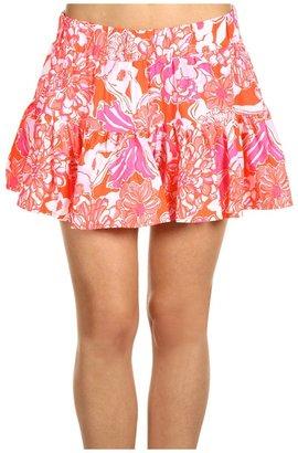 Lilly Pulitzer Merrick Skirt (Tango Orange Tango and Hopper) - Apparel