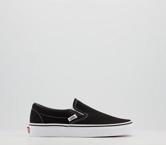 Vans Classic Slip On Trainers Black White