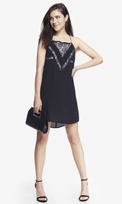 Express Reversible Lace Inset Cami Dress