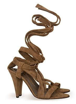 Bally Suede Wrap Sandals