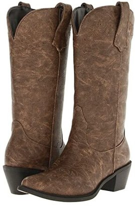 Roper Western Embroidered Fashion Boot (Tan) Cowboy Boots