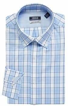 Izod Plaid Slim-Fit Dress Shirt