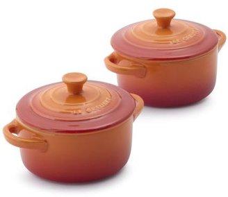 Le Creuset Mini Flame Cocottes, Set of 2