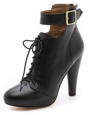 Twelfth St. By Cynthia Vincent Tamra Cutout Ankle Strap Booties