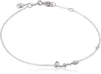 Sydney Evan Shy by Diamond Bezel White Love Bracelet