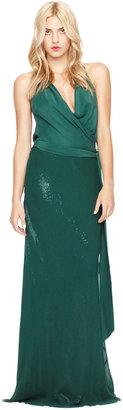 Nicole Miller Halter Sequin Gown Combo