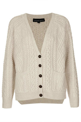 Topshop Petite knitted cable cardigan
