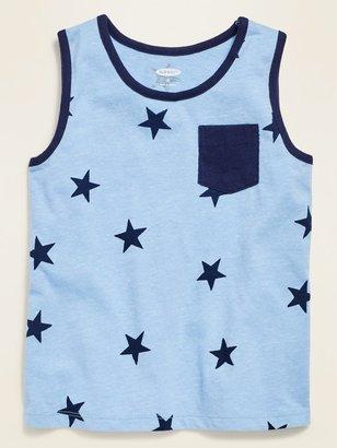 Old Navy Americana-Print Slub-Knit Pocket Tank Top for Toddler Boys