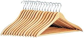 Neu Home Natural Dress Hanger w/Wood Bar 15-pk