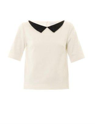 Osman Beaded collar blouse