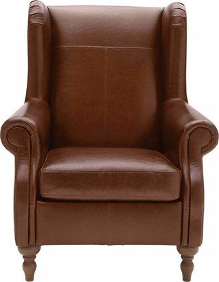 Argos Home Argyll Leather High Back Chair