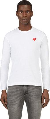 Comme des Garcons White Logo Applique T-Shirt