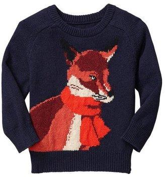 Gap Intarsia fox sweater