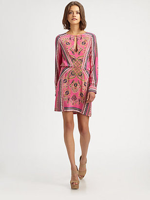 BCBGMAXAZRIA Freya Paisley Dress