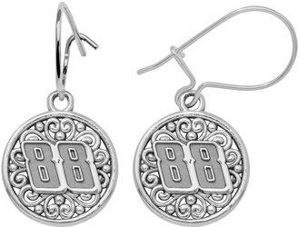 "Insignia Collection NASCAR Dale Earnhardt Jr. Sterling Silver ""88"" Drop Earrings"