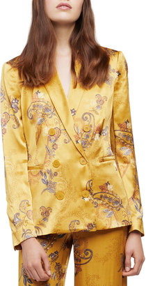 L'Agence Colin Paisley Double-Breasted Blazer