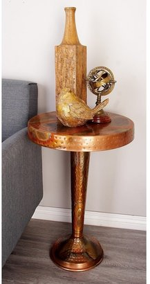 Traditional 26 Inch Round Pedestal Accent Table by Studio 350