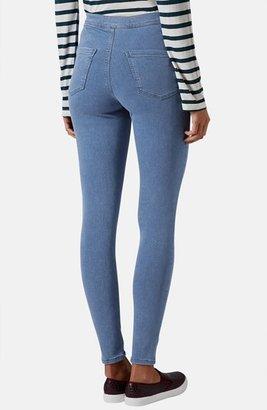 Topshop Moto 'Joni' High Rise Skinny Jeans (Regular & Short) (Mid Stone)